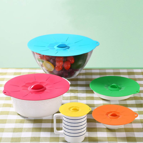 Silicone Bowl Lid Soft Suction Cover