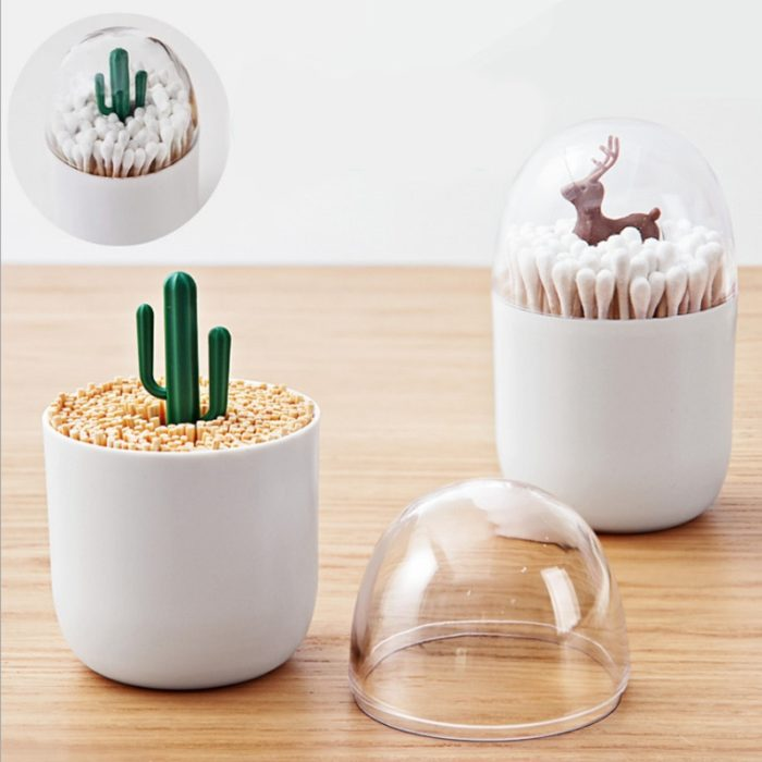 Q-tips Holder Cute Toothpick Organizer
