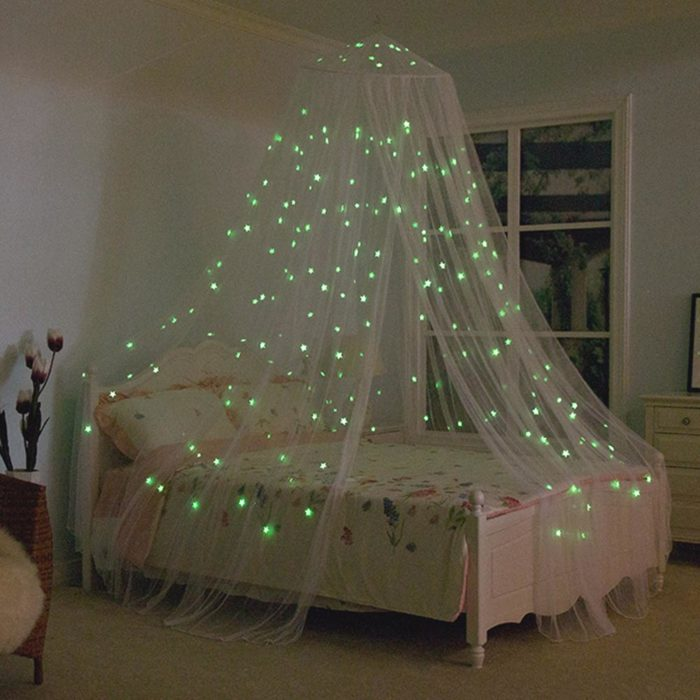 Bed Canopy with Luminous Stars