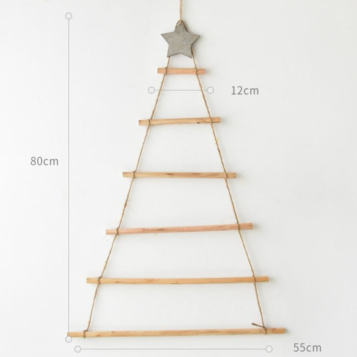 Wall Hanging Christmas Tree Wooden Decor