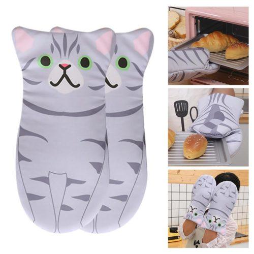 Cute Oven Mitts Cute Cat Shaped Design