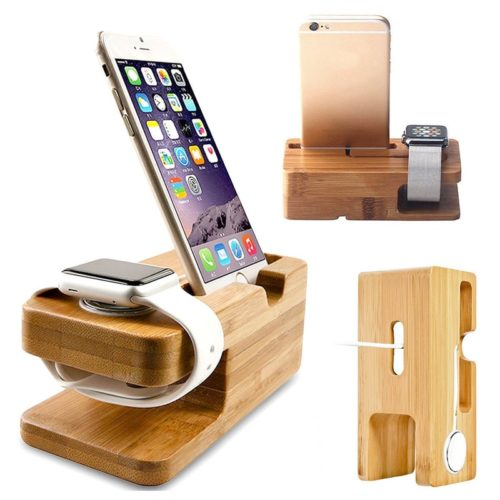 Wood Charging Station for iPhone and iWatch