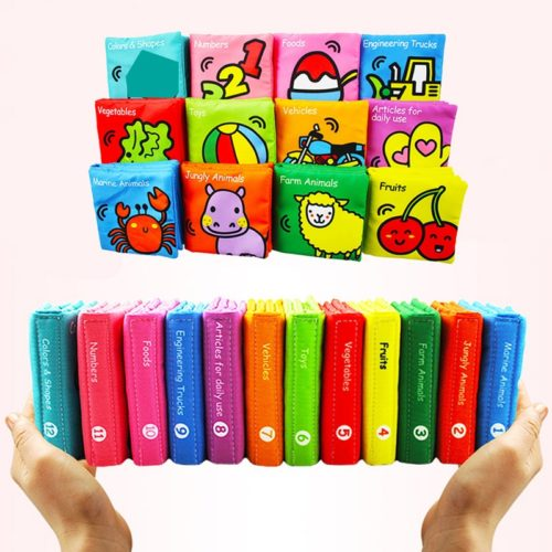 Educational Baby Cloth Books (6 Pcs)
