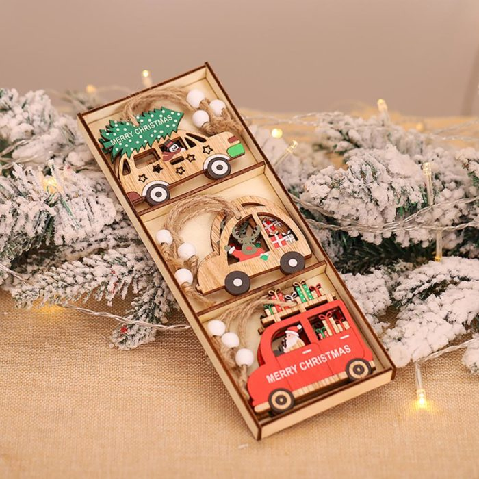 Hanging Wooden Christmas Decorations