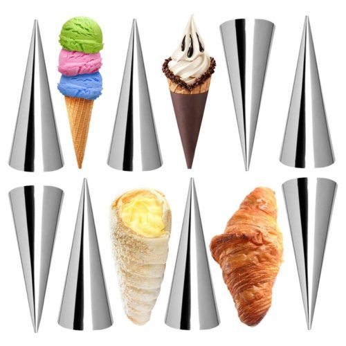 Cream Horn Molds Stainless Cones (12pcs)