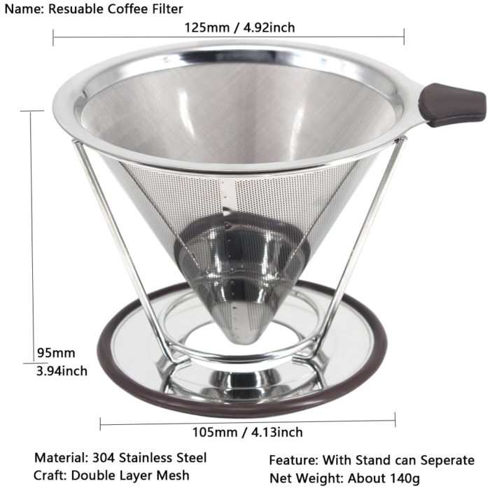 Stainless Steel Coffee Filter Reusable Dripper