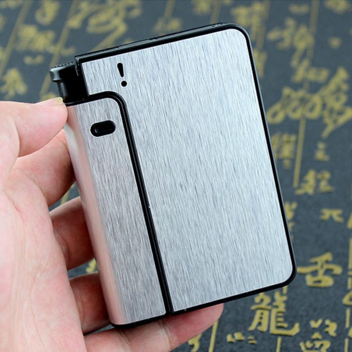 Cigarette Case with Lighter Automatic Container