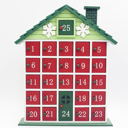 Wooden Advent Calendar with Drawers