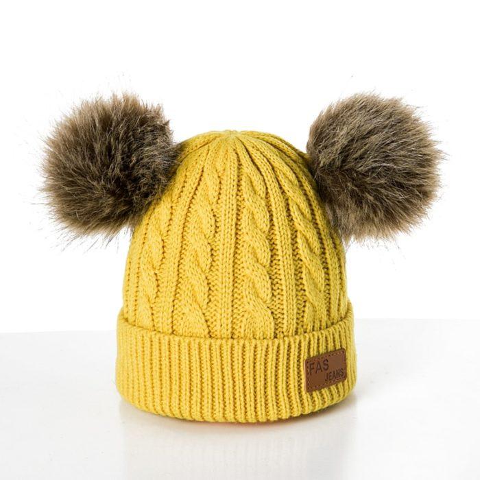 Kids Winter Cap Knitted Beanie Hat