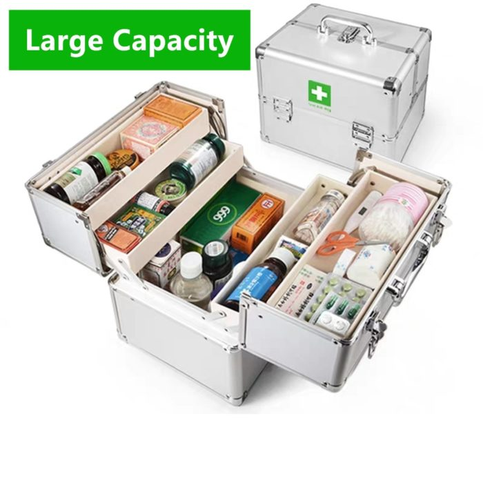Lockable Medicine Box with Straps