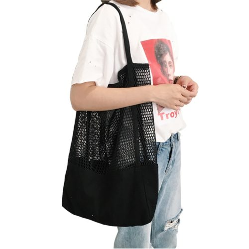 Mesh Tote Bag Fashion Grocery Carrier