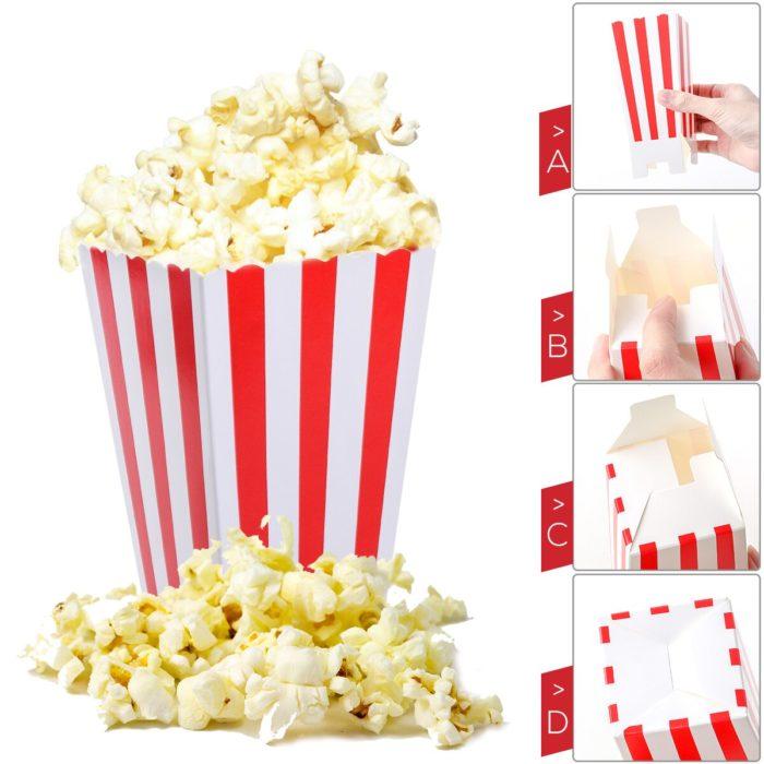 Popcorn Paper Bags Popcorn Boxes (24Pcs.)