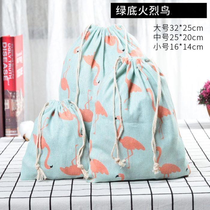 Reusable Cotton Drawstring Bag
