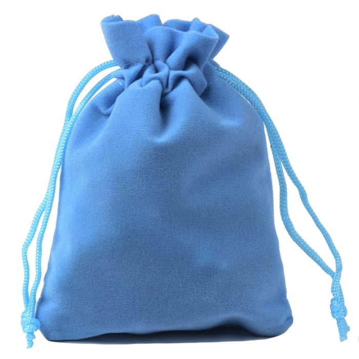 Jewelry Pouch Velvet Gift Drawstring Bag Place your precious jewelry in this jewelry pouch for safekeeping or when you are traveling. This pouch is also a perfect gift bag if you are planning on gifting someone. It has this beautiful velvet material that is very soft and a drawstring design as closure. This also makes it look very expensive and elegant which is perfect for keeping your jewelry.