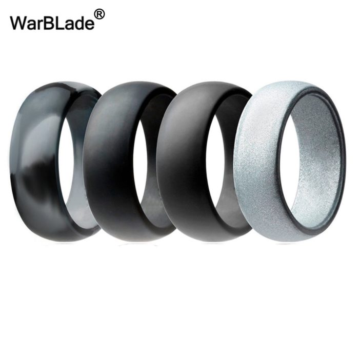 Silicone Ring Bands Set of 4 Hypoallegenic Rings