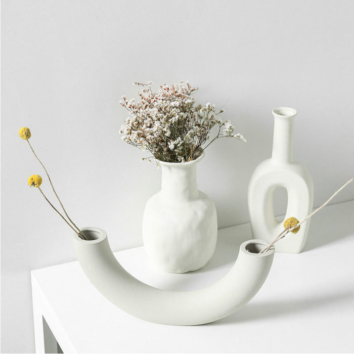 Ceramic White Vase Home Decoration