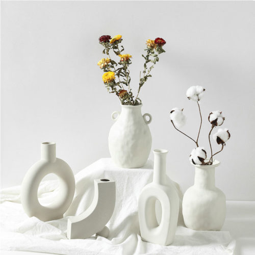 Ceramic White Vase Home Decoration
