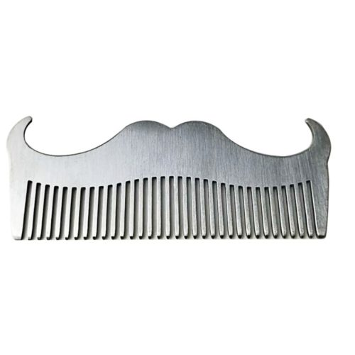 Mustache Comb Stainless Grooming Comb