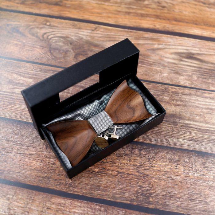 Wooden Bowtie Gentleman Accessory