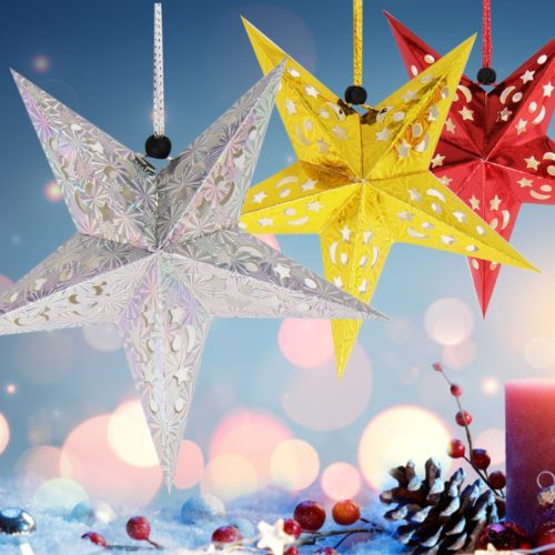 Paper Star Lantern Christmas Decoration