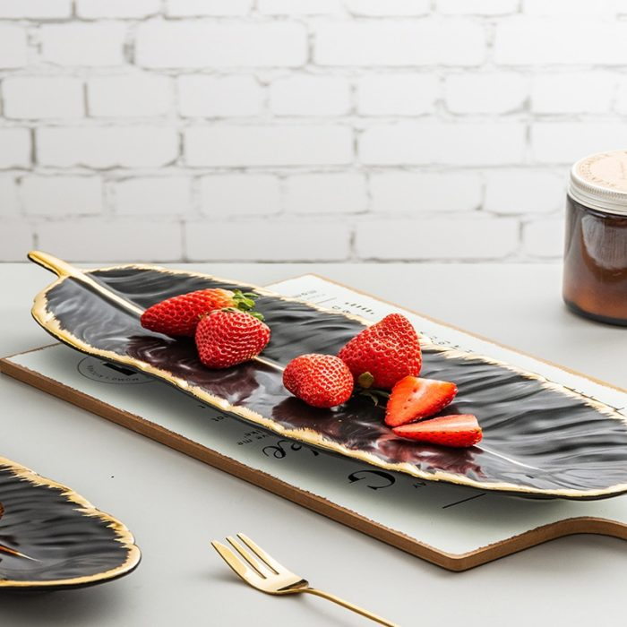 Tray For Jewelry Elegant Gold Plating Edge Plate