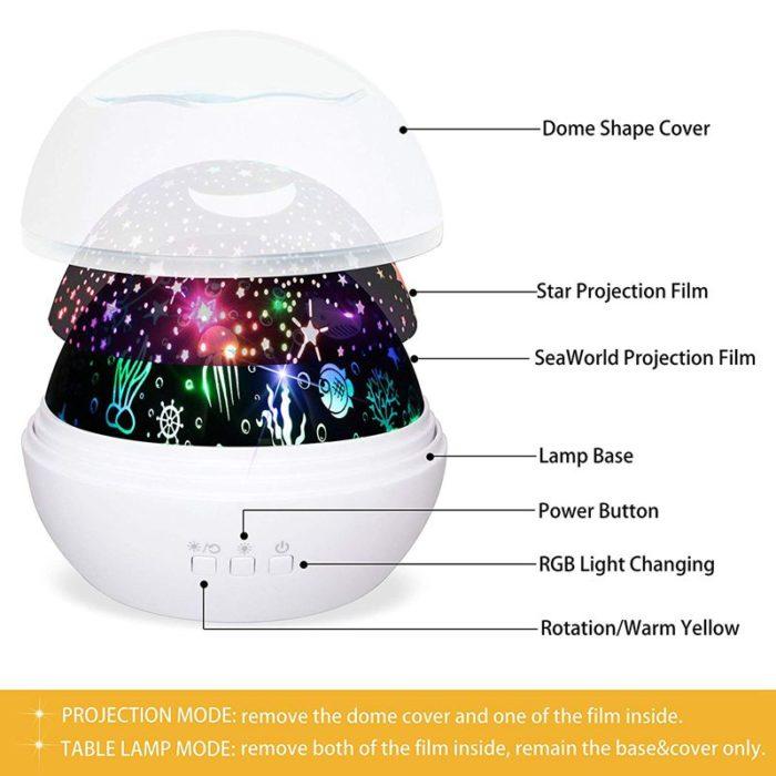 Night Light Rotating Projector