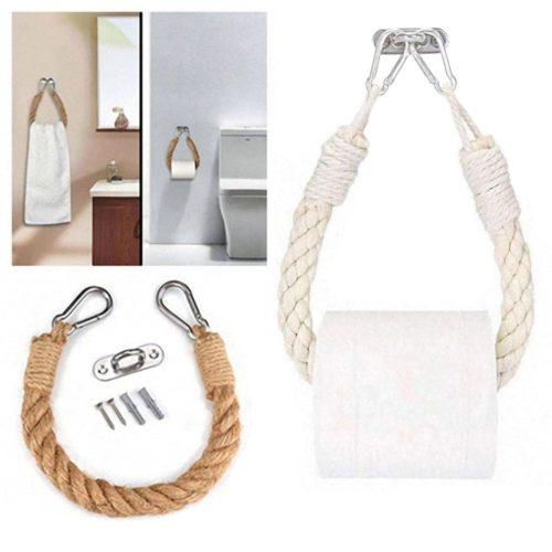 Toilet Paper Hanger Rustic Rope Design