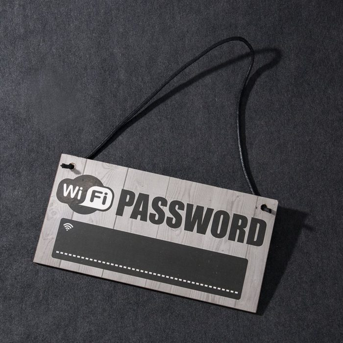 Wifi Password Signage Wooden Board
