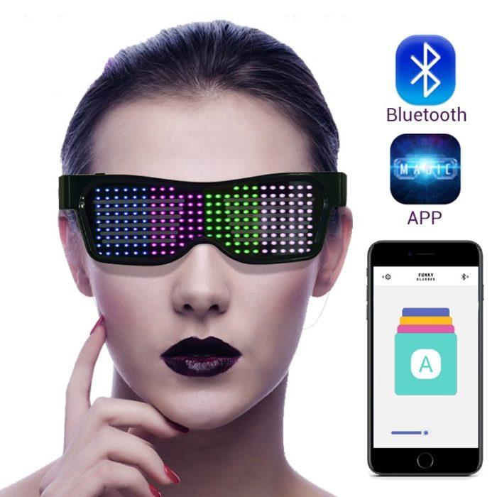 LED Light Glasses BlueTooth Party Eyewear