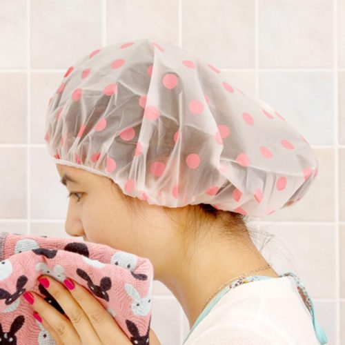 Waterproof Shower Cap Thick and Reusable