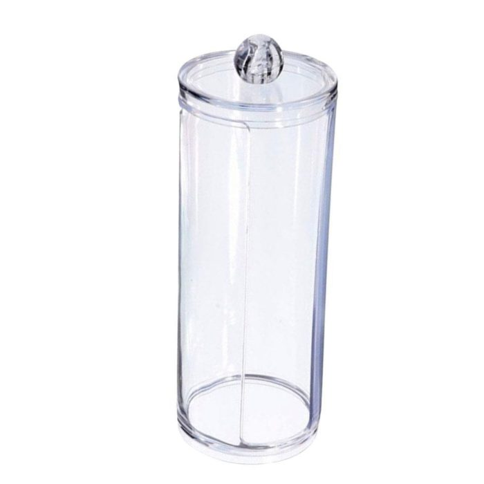 Cotton Pad Dispenser Acrylic Container