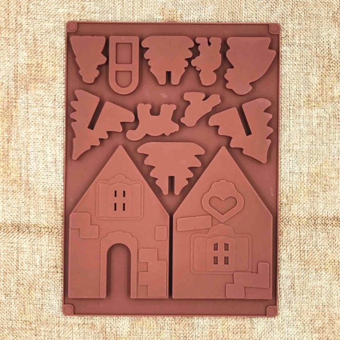 Gingerbread House Mold Silicone Set (2pcs)