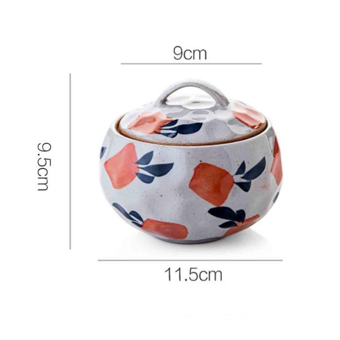 Ceramic Bowl with Lid Elegant Serving Bowl