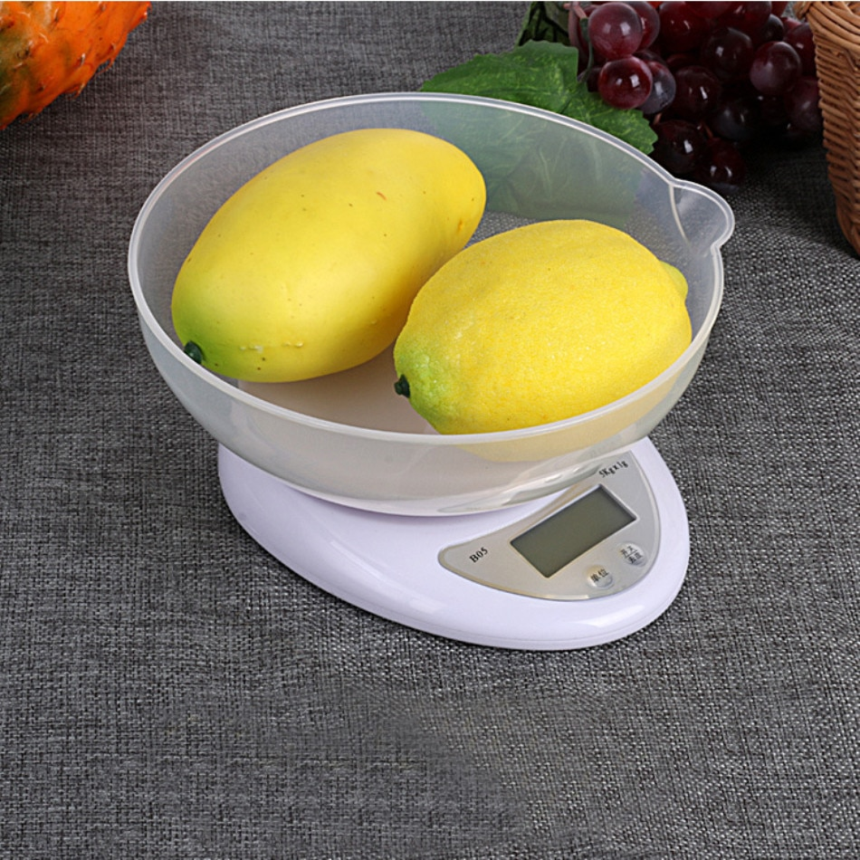 Portable Digital Kitchen Scales 5kg 1g LED Electronic Food Scales Weight Scales Balance Measuring кухонные весы