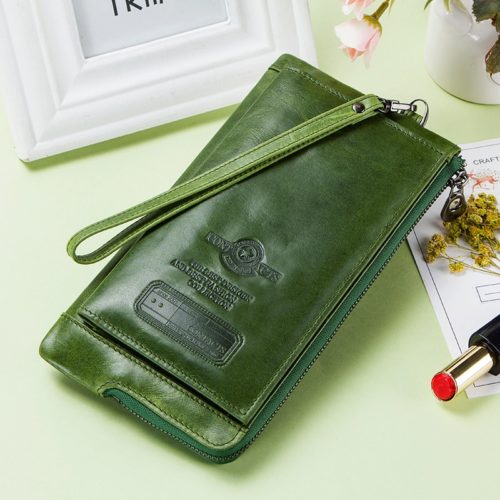 RFID Ladies Wallet Leather Long Wallet