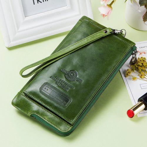RFID Ladies Wallet Leather Long Wallet