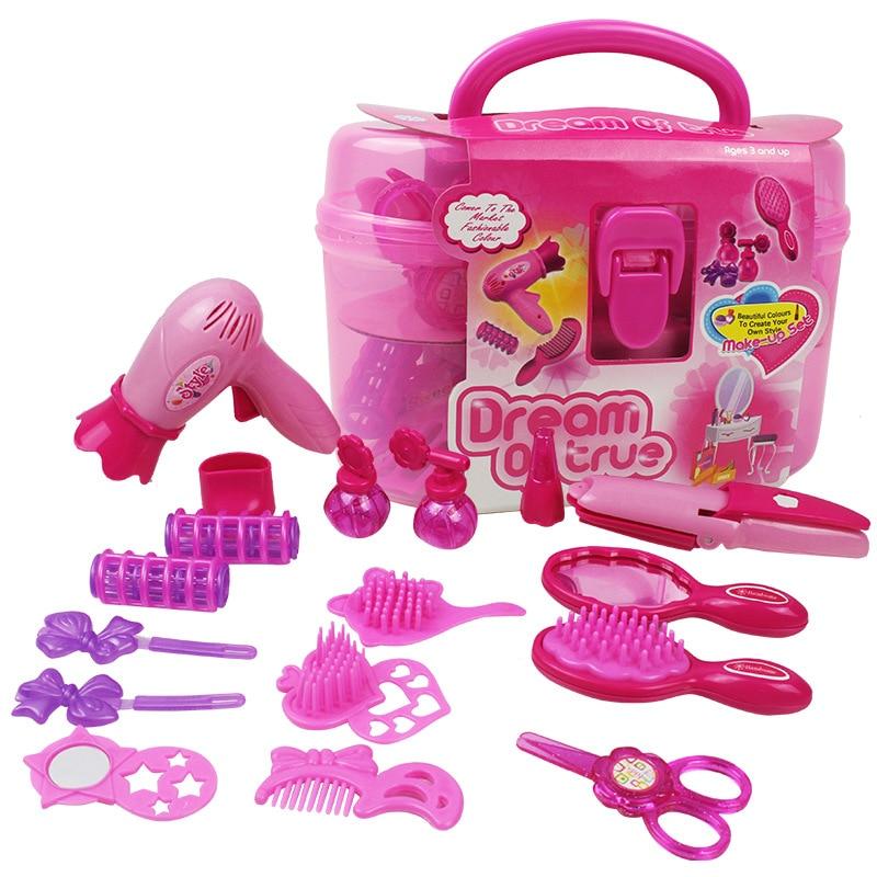 2019 Newest Little Cosmetics Kit Pretend Play Toys Makeup Set Kids Baby Girls Preschool Kid Beauty Fashion Toys Game