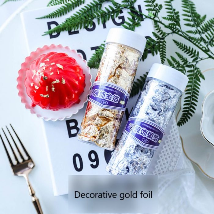 Edible Gold Flakes 24K Gold Cake Decoration