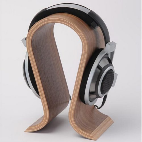 Wooden Headset Stand U Shape
