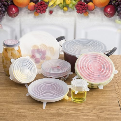 Stretchy Food Lids Silicone Covers Set