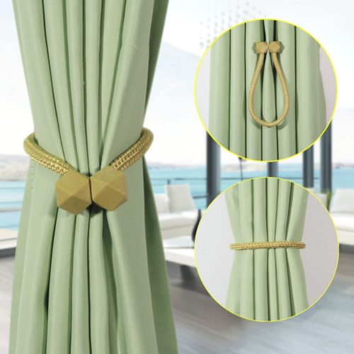 Magnetic Curtain Tie Backs Ball Buckle