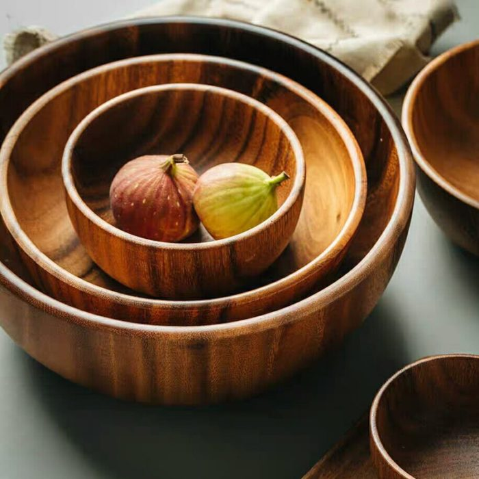Acacia Wooden Serving Bowl