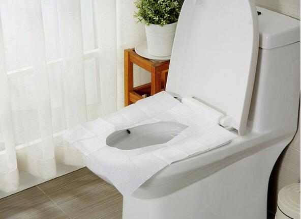 5 Packs=50Pcs Disposable Paper Toilet Seat Covers Camping Loo wc Bacteria-proof cover For Travel/Camping Bathroom ZXH