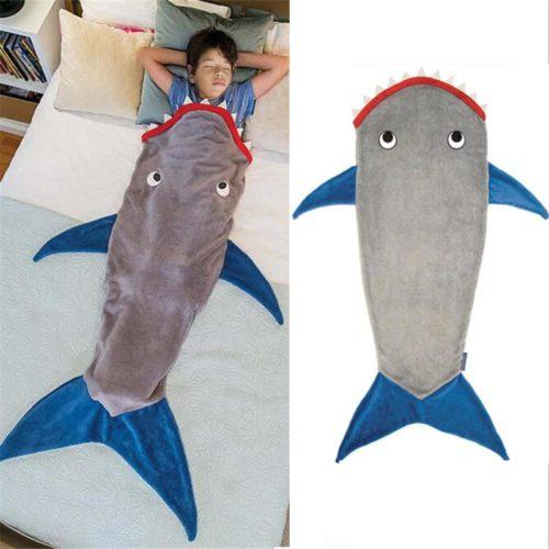 Shark Tail Blanket Soft Fleece Material