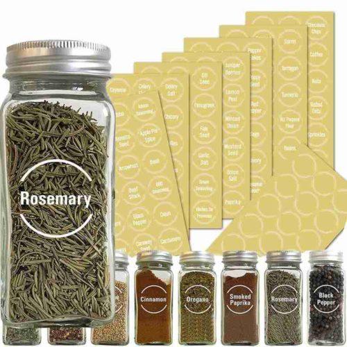 Various Bottle Jar Stickers (144 Pcs)