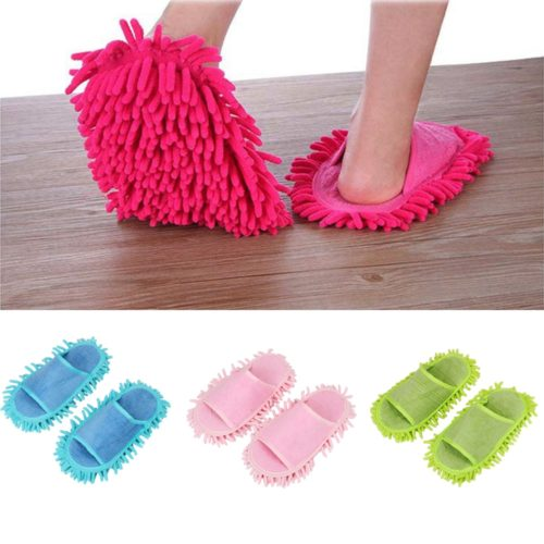 Floor Cleaning Slippers Mop Slip On