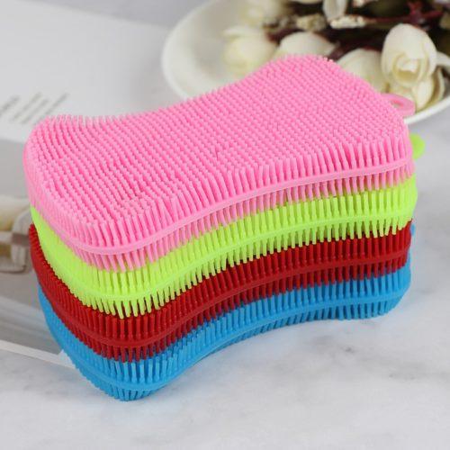 Silicone Dish Scrubber Reusable Sponge