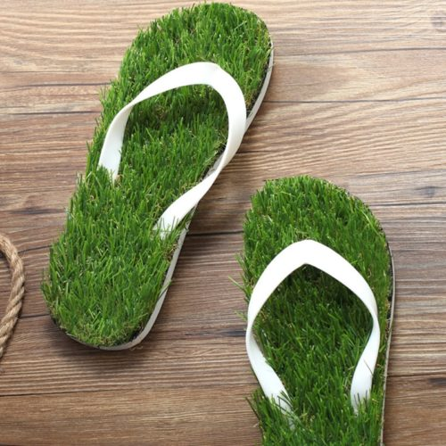 Grass Slippers Cool Lawn Flip Flops