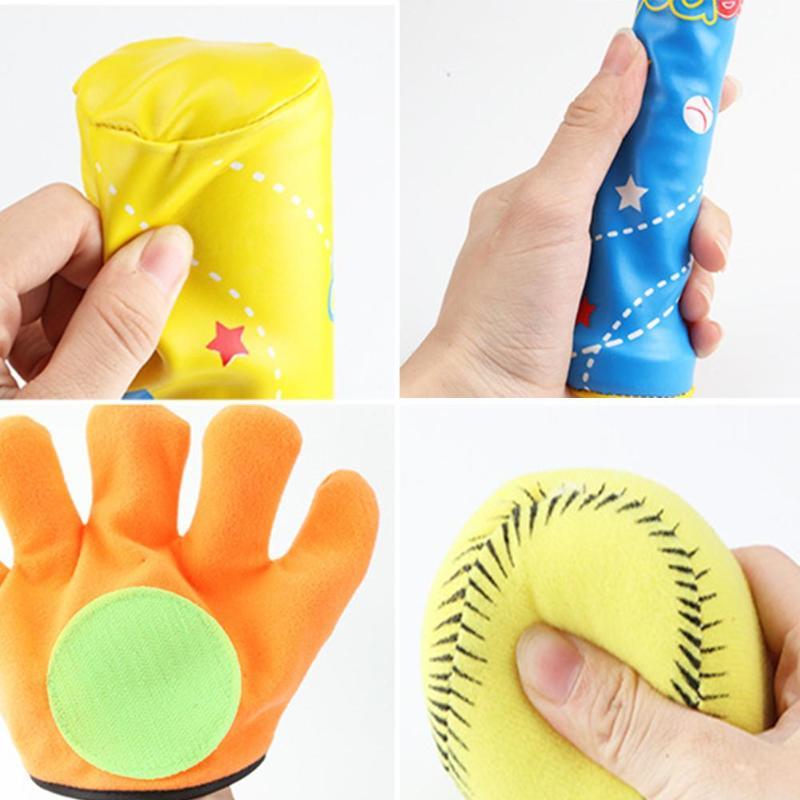 Kids Baseball Toys EVA Soft Balls ABS PVC Bat Gloves Set Children Funny Outdoor Sports Play Toys Infant Throw Catch Balls Game