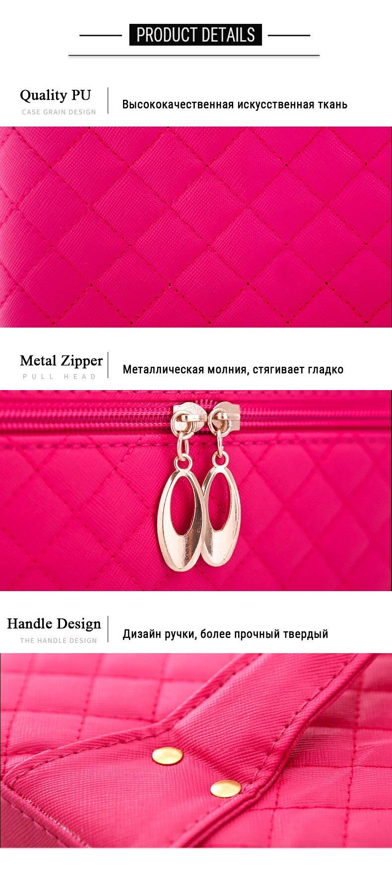 Women Cosmetic Box Designer High Quality Portable Cosmetic Bag Large Capacity PU Cosmetic Bag Women Makeup Dedicated Tlan01